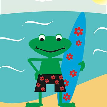 Surf Frog by were