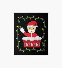 OMG Santa Coming Art Board Print