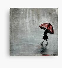 Dreaming of Red Umbrellas Canvas Print