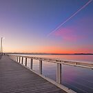 The Pink Jetstream - Wellington Point Qld by Beth  Wode
