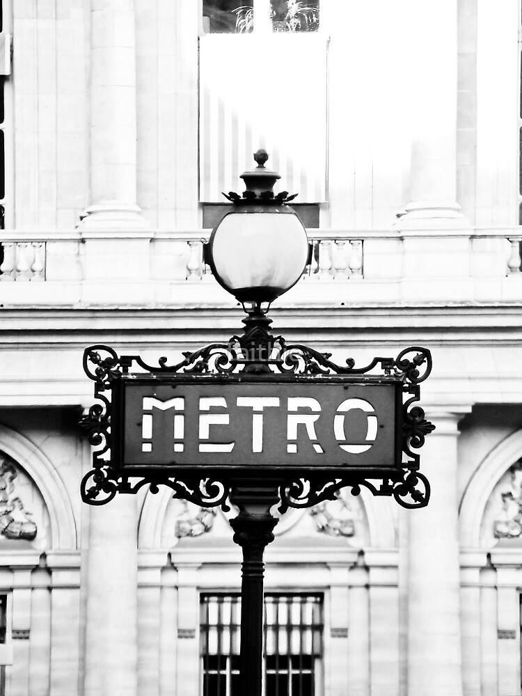 metro in Paris (not for sale) by faithie