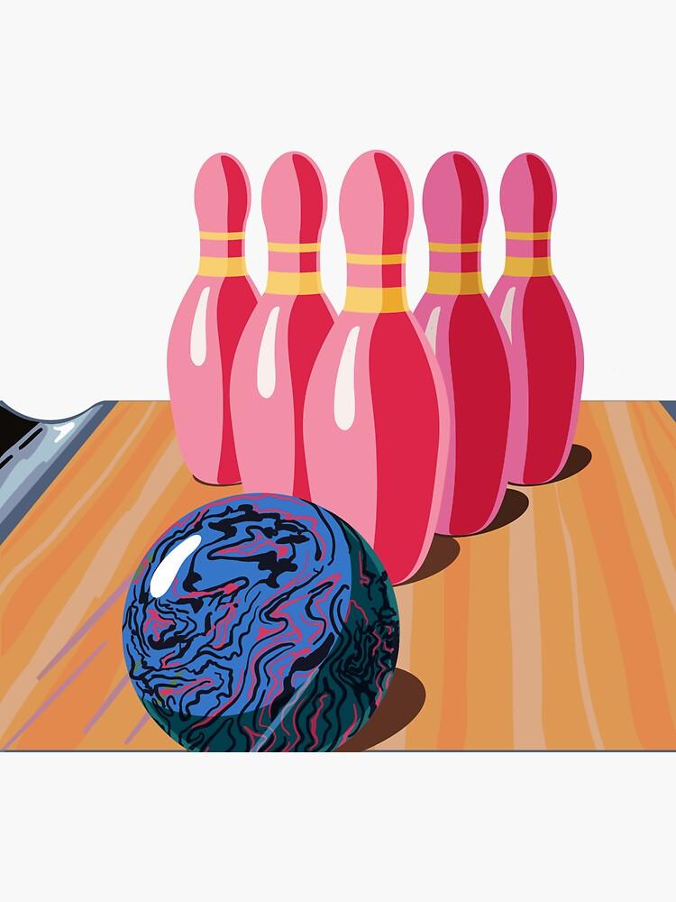 Bowling Ball & Pins by a-roderick