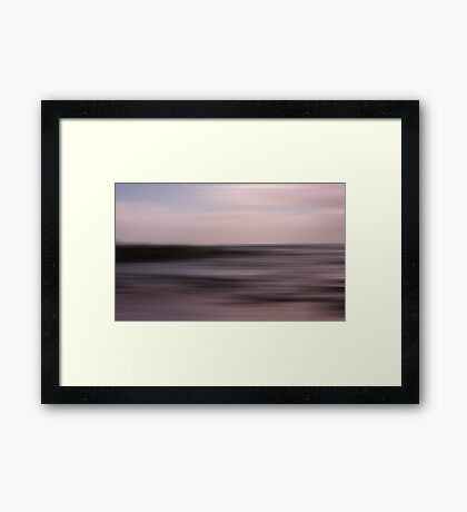 Rapture on the lonely shore Framed Print