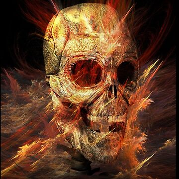 Skeleton in Flames by fotokatt