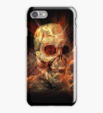 Skeleton in Flames iPhone Case/Skin