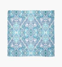Blue and Teal Diamond Doodle Pattern Scarf