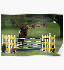 Grand Prix Horse and Rider on Course Poster