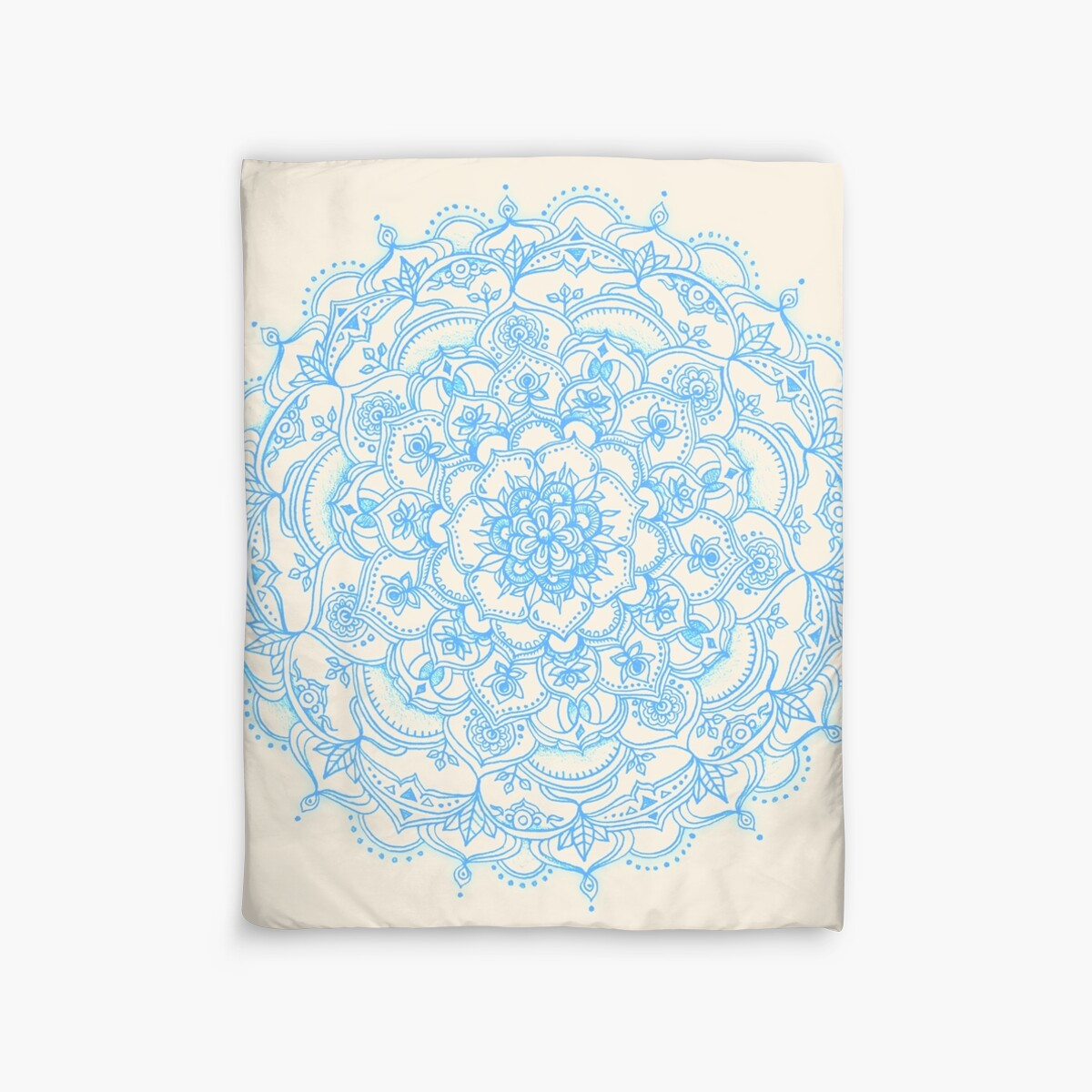light blue lace mandala - photo #12