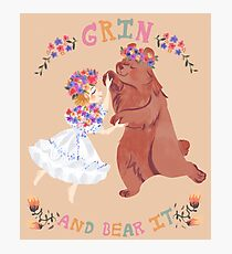 Grin and Bear It  Photographic Print