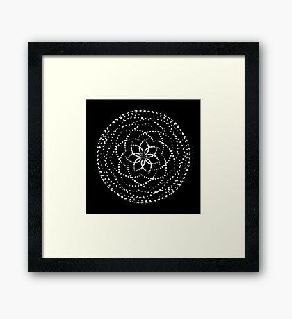 Spirograph V Framed Print