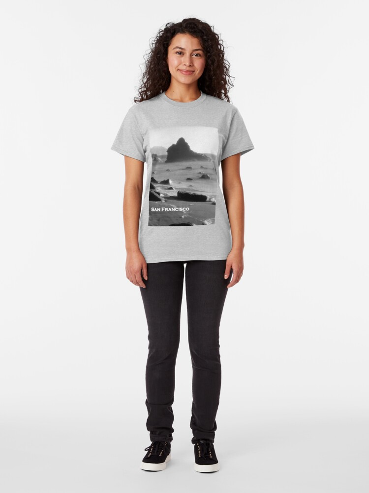 Alternate view of Marshall's Beach, San Francisco Classic T-Shirt