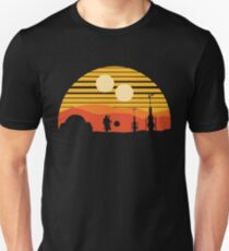 vintage sunset Slim Fit T-Shirt