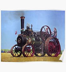 steam traction engine Ransomes Sims and Jefferies General Purpose Engine Poster