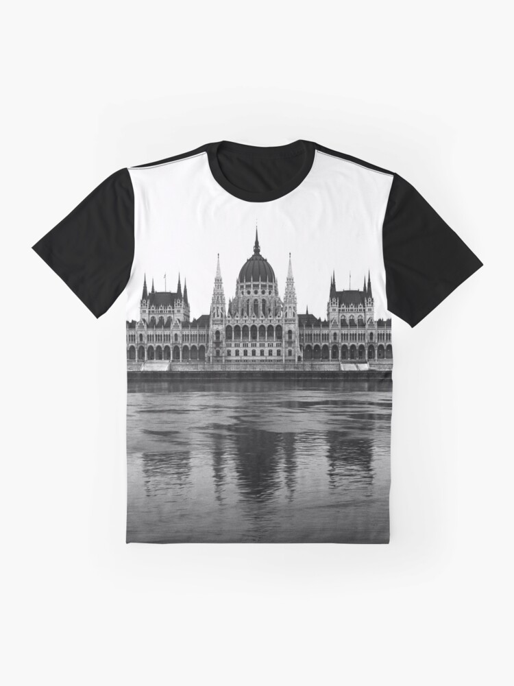 Alternate view of Parliament, Budapest Graphic T-Shirt