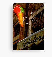 Gelateria Sign (Rome, Italy) Canvas Print