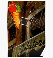Gelateria Sign (Rome, Italy) Poster