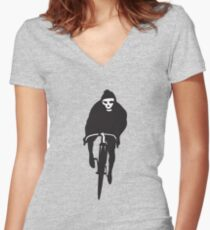 Cycling Death Women's Fitted V-Neck T-Shirt