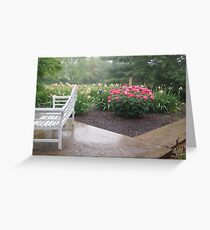 Rain In The Garden Greeting Card
