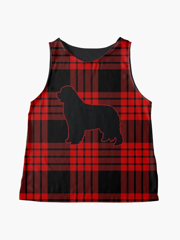 Alternate view of Red Plaid Newfie Sleeveless Top