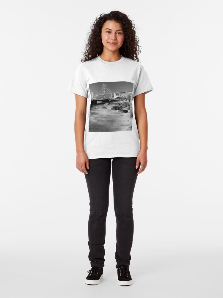 Alternate view of Marshall's Beach, San Francisco Classic T-Shirt