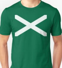 St. Andrew's Cross - Scottish Flag Unisex T-Shirt