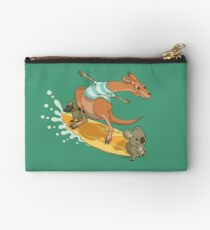 Surfing kangaroo and friends Studio Pouch