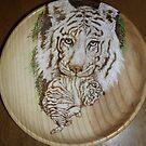 white tiger with cub-oh so cute! by lynnieB