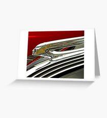 1937 Pontiac Hood Ornament Greeting Card