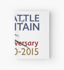 Battle of Britain poster white version Hardcover Journal