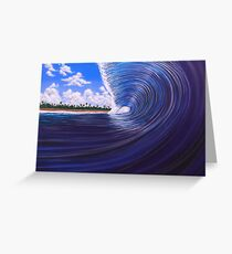 PRIMAL BLUES Greeting Card