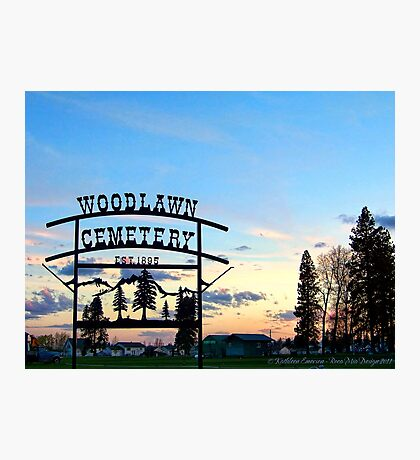 Woodlawn Sign Photographic Print