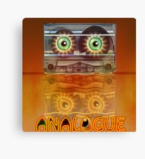 Cassette Tape Analogue Cartoon 3 Canvas Print