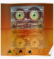 Cassette Tape Analogue Cartoon 3 Poster