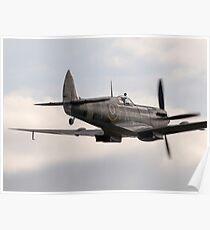 RAF WW2 Spitfire Formation Poster
