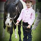 Little one with horse by mwfoster