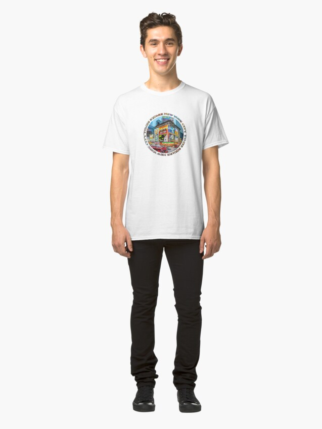 Alternate view of Times Square III (round badge on white) Classic T-Shirt