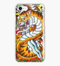 Tiger snake - Tattoo Art Print iPhone Case/Skin