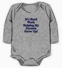 Parenting T-Shirt Kids - It's Hard Work Helping My Parents Grow Up Kids Clothes