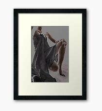 Wrapped In Cloth Framed Print