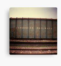 cambodian railways, phnom penh, cambodia Canvas Print