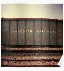 cambodian railways, phnom penh, cambodia Poster
