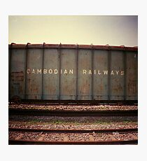 cambodian railways, phnom penh, cambodia Photographic Print