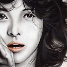Song Hye Gyo Mixed media by Lubna