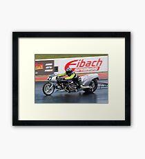 Dragster motorcycle Framed Print