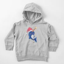 Cute Baby Narwhal Christmas Lights and Santa Hat Toddler Pullover Hoodie