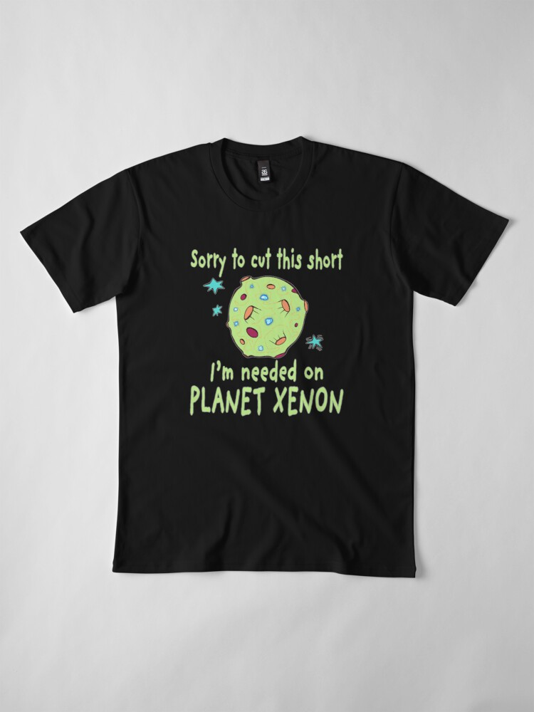 Alternate view of Planet Xenon. Premium T-Shirt