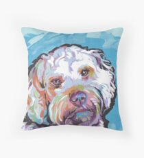 Cockapoo Dog Bright colorful pop dog art Throw Pillow