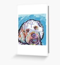 Cockapoo Dog Bright colorful pop dog art Greeting Card