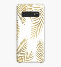 Gold palm leaves Case/Skin for Samsung Galaxy