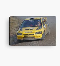 Evo on the Pace Canvas Print